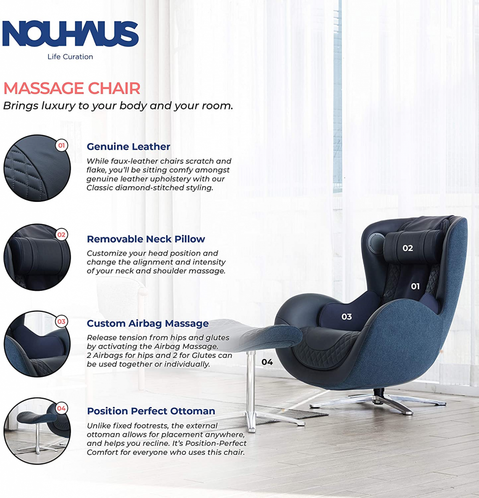 nauhaus massage chair features
